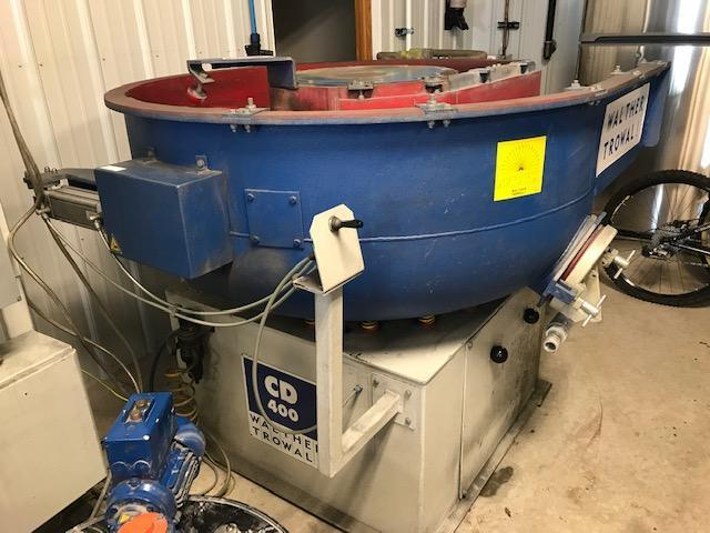 WALTHAR TROWAL COMBINATION CD 400 VIBRATORY BOWL AND ZM 03 WATER CLEANING CENTRIFUGE SYSTEM
