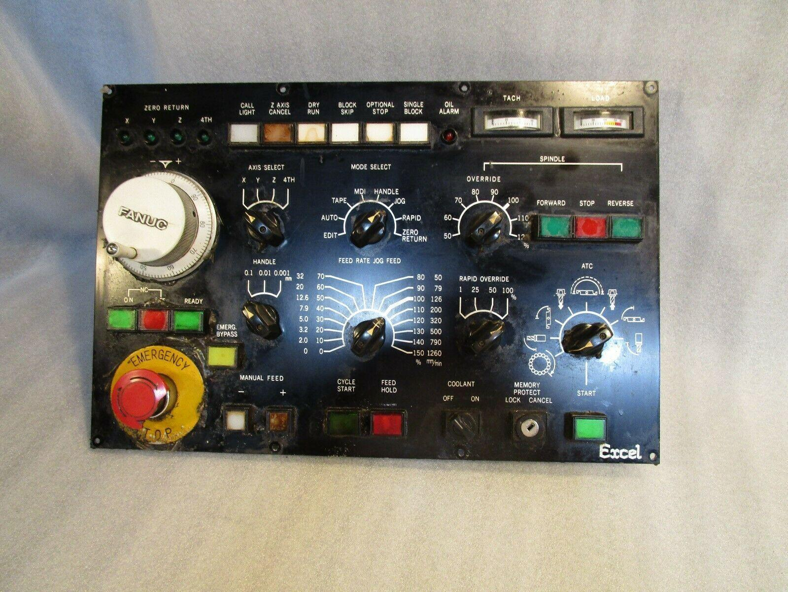 Fanuc 0M Lower Operator Panel Removed form an Excell Kiwa VMC
