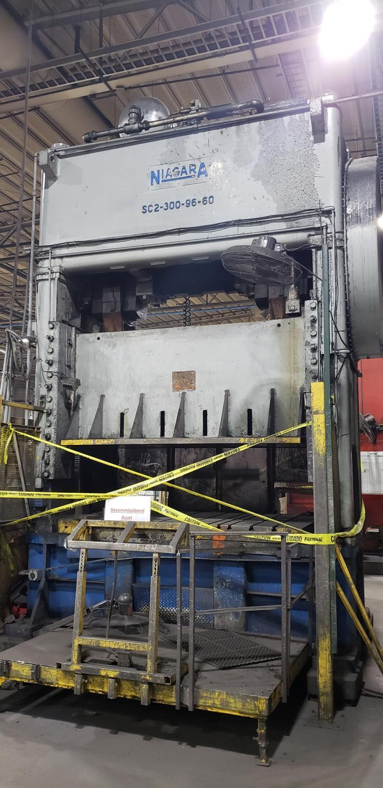 300 Ton Niagara SC2-300-96-60 Straight Side Press