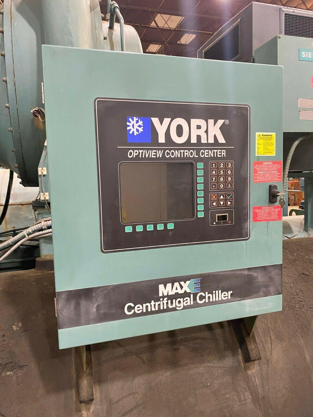 York 591 Ton Water Cooled Chiller