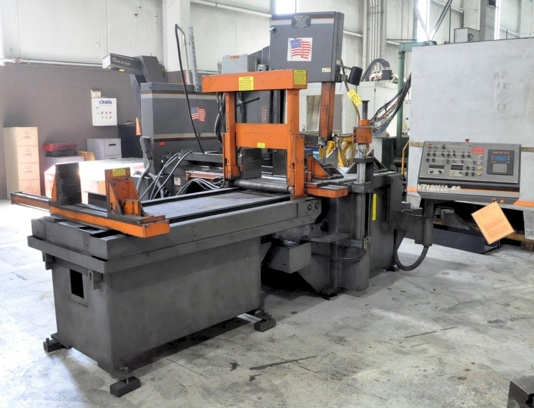"18"" x 24"" HEM MODEL #VT120HA-60 TILT FRAME VERTICAL BAND SAW WITH AUTOMATIC FEED & NESTING: STOCK #13911"