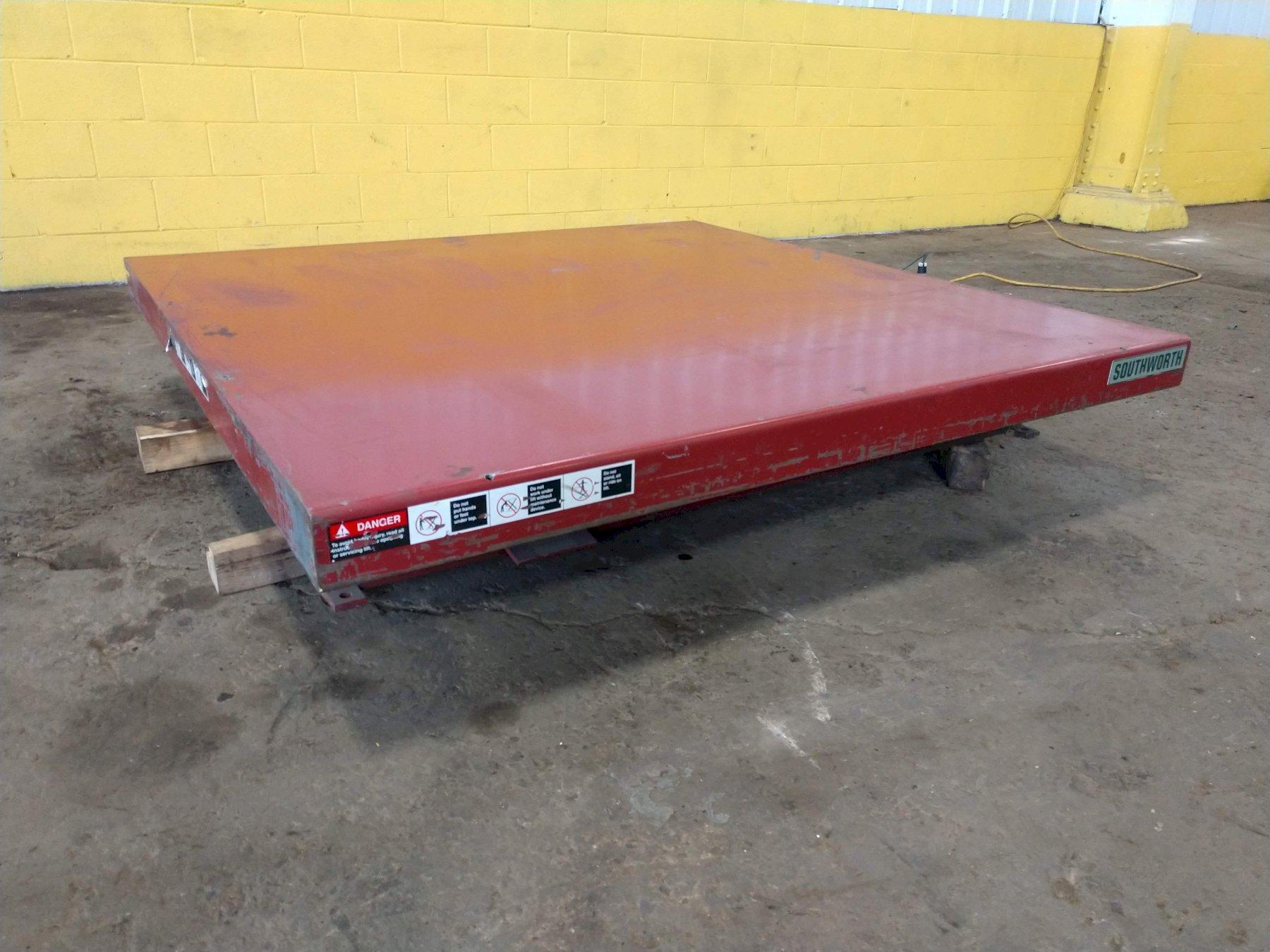2,000 LB 6' x 6' ELECTRIC SCISSOR LIFT TABLE: STOCK #13267
