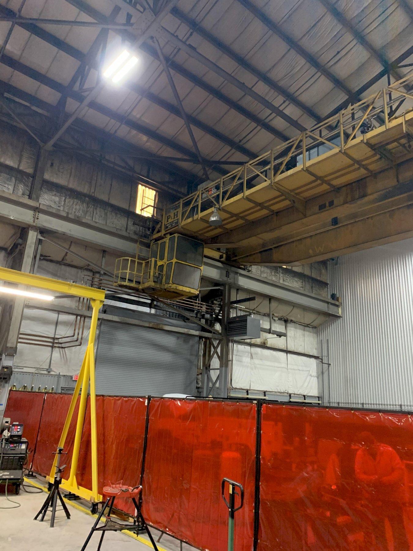 (2) 40/10 Ton P&H Double Girder Overhead Bridge Crane
