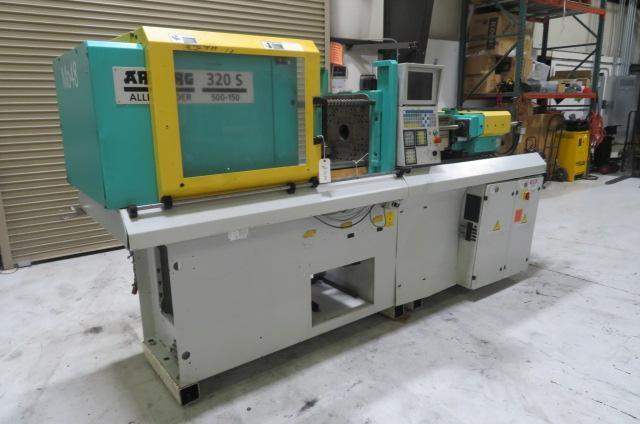 Arburg Used 320S-500-150 Injection Molding Machine, 55 US ton. Yr. 1997, 2.1 oz.