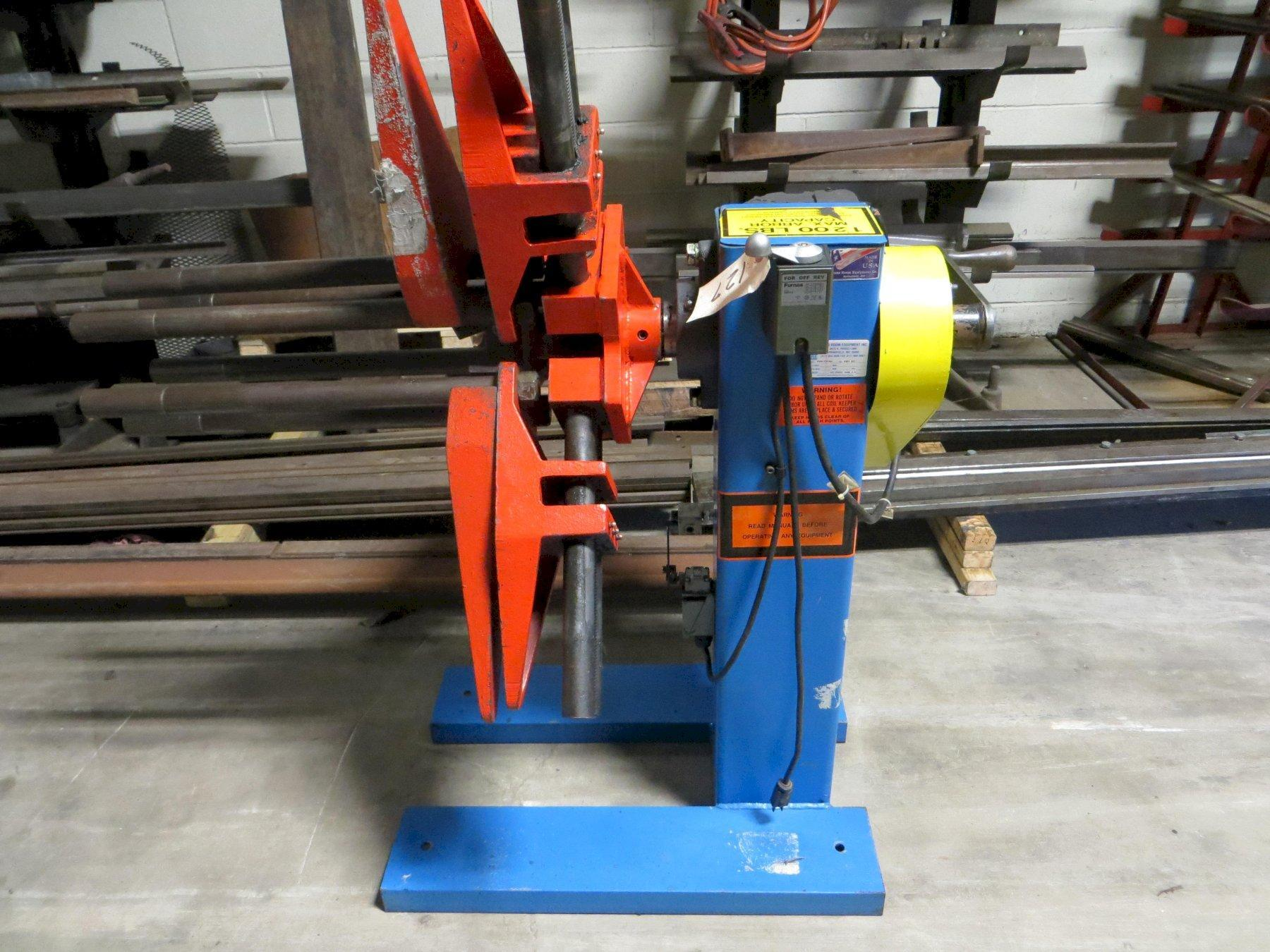 1,200 lb x 13 in Press Room Equipment Motorized Coil Reel Model ASRM-131200