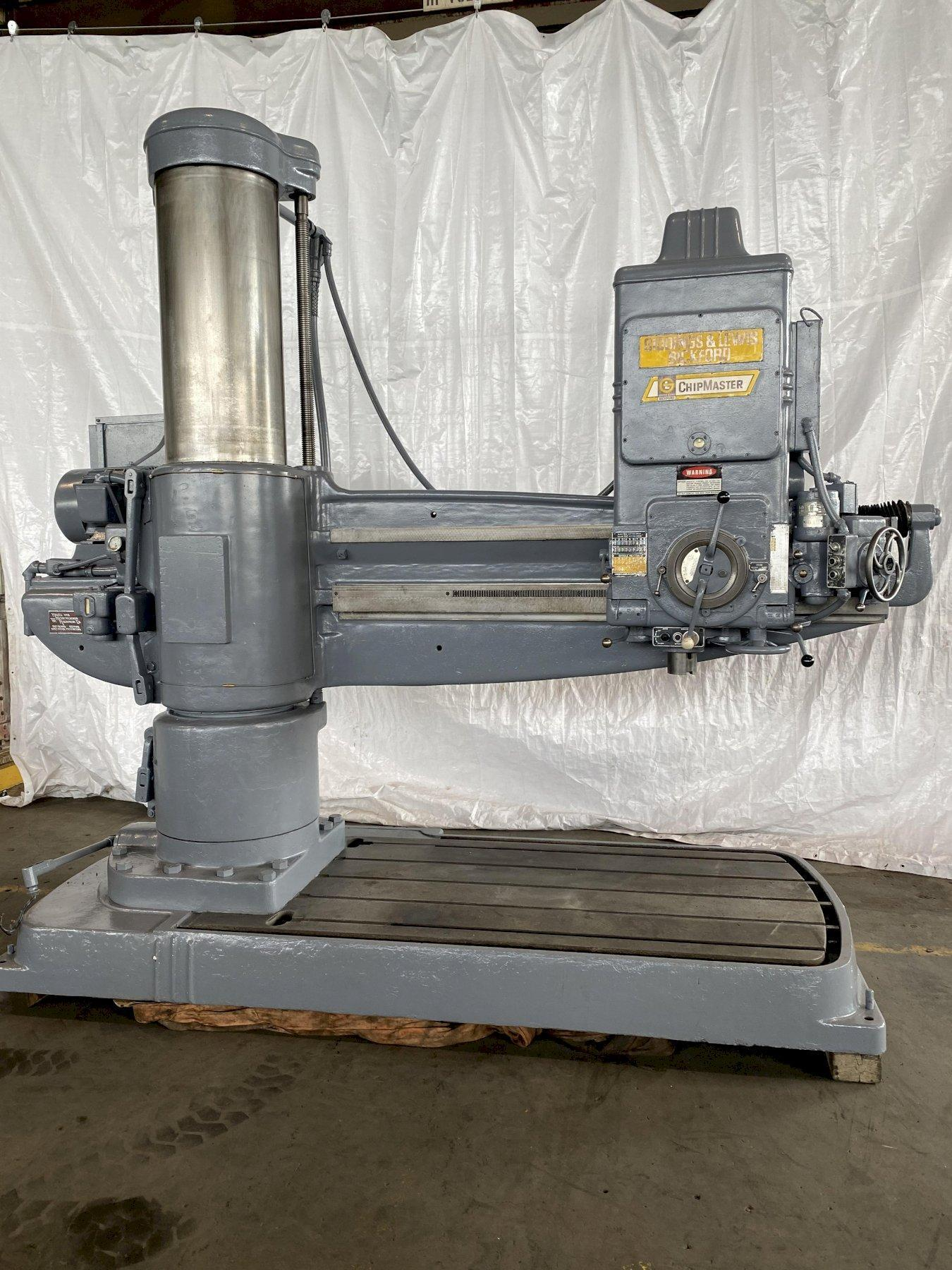 "6' x 19"" GIDDINGS & LEWIS BICKFORD CHIPMASTER RADIAL ARM DRILL. STOCK # 0405820"