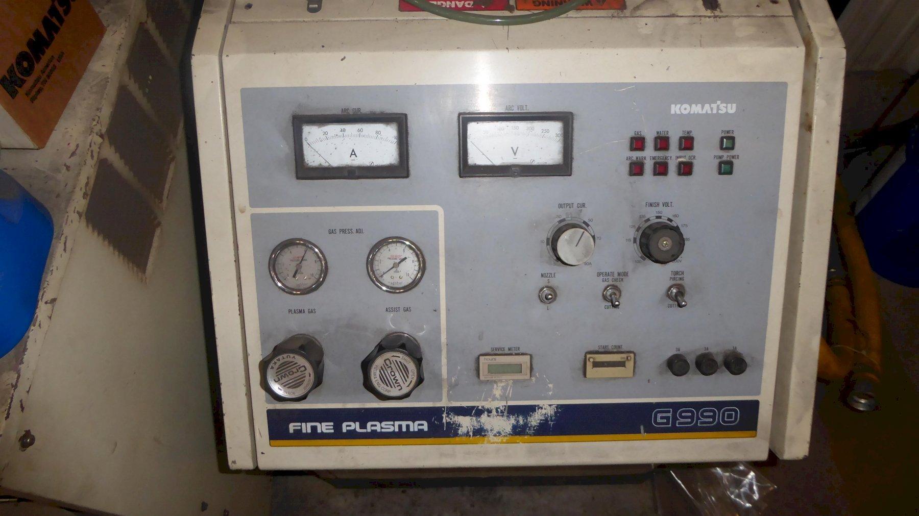 Used Komatsu 90 Amp Plasma Cutter 5′ x 10′ Table