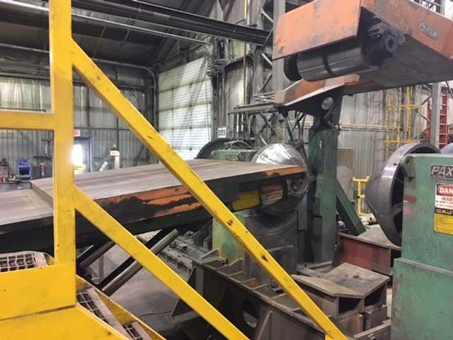 """98"""" PAXSON CUT TO LENGTH LINE .5"""" (12.7mm) THICKNESS, 80,000 Lbs COILS (13962)"""