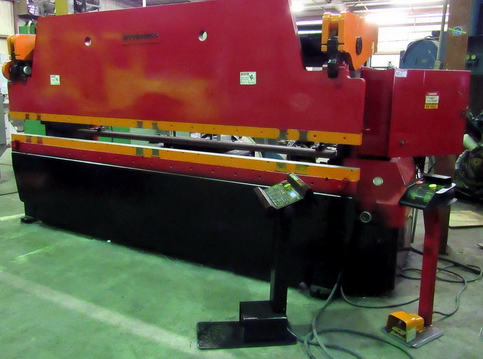 """100 Ton x 144"""" ACCURPRESS Hydraulic Press Brake Model 710012 with ETS 1 Axis Back Gauge, Ready to go."""