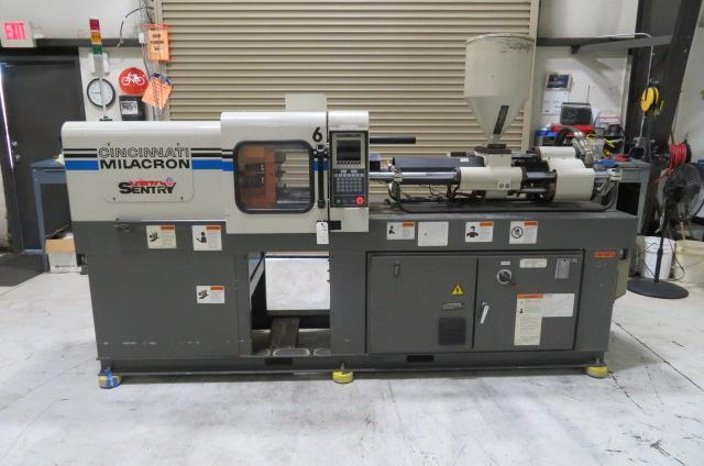 Cincinnati Milacron Used VSX33 Injection Molding Machine, 33 US ton, Yr. 1997, 2.27 oz.