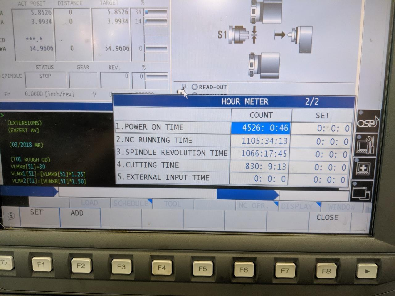 OKUMA LU-S1600-2SC X 1000 