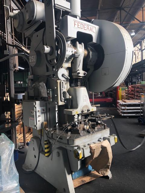 100 Ton Federal OBI Flywheel Type Press