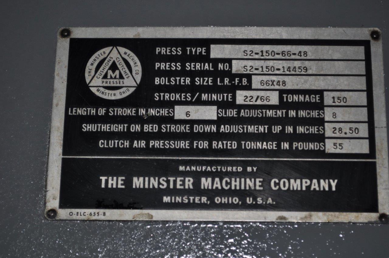 150 TON MINSTER SSDC PRESS