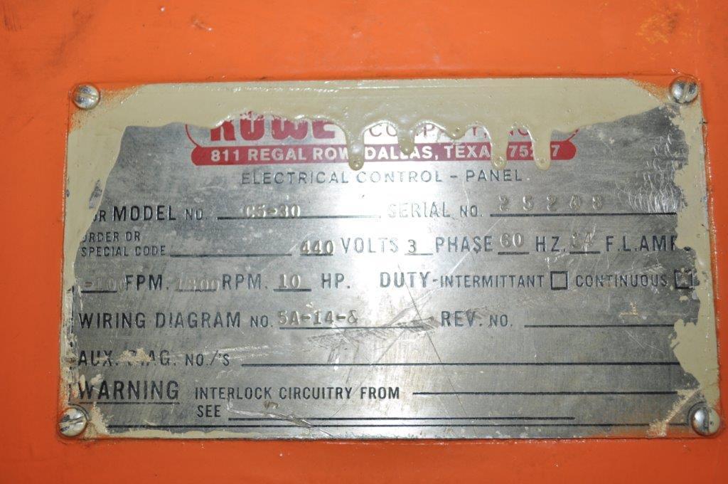 """30"""" x .190"""" Rowe Straightener"""
