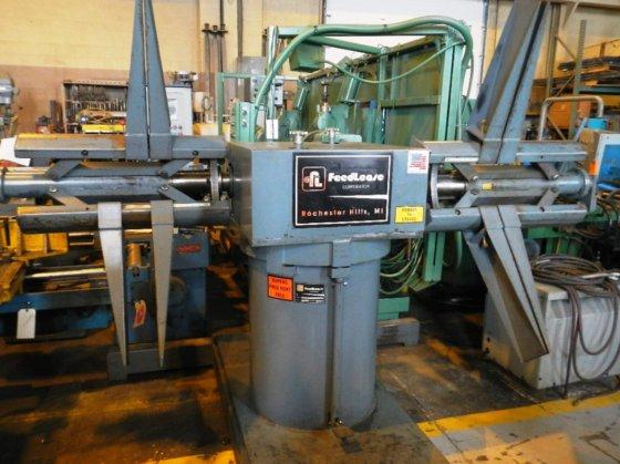 "6,000 LB FEED LEASE DAR-46M-24 DOUBLE END REEL, 24"" WIDE, 72"" OD, 16""-21"" ID, ADJUSTABLE BRAKES, 2008 (10090)"