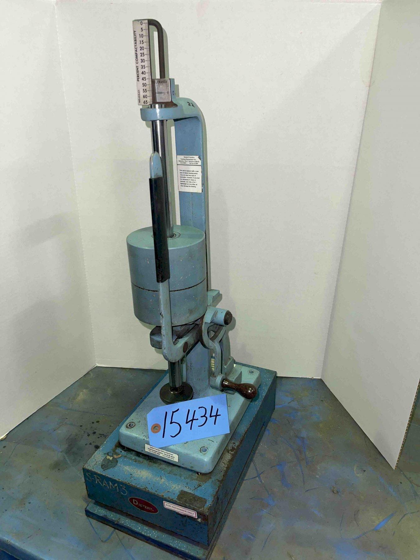 Dietert model 315 sand rammer W/ Base