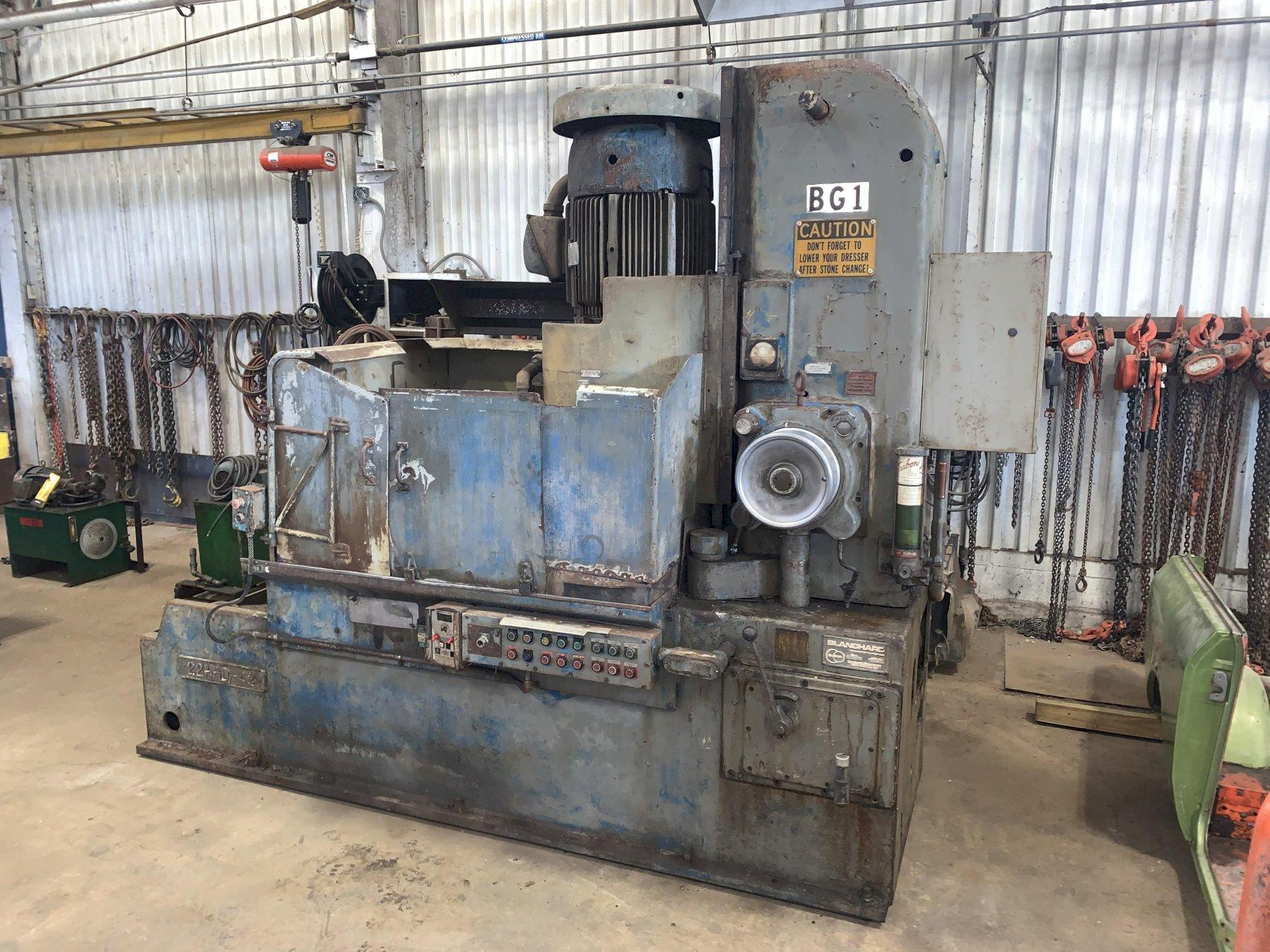 "42"" BLANCHARD MODEL 22H-D-42 ROTARY SURFACE GRINDER: STOCK #13106"