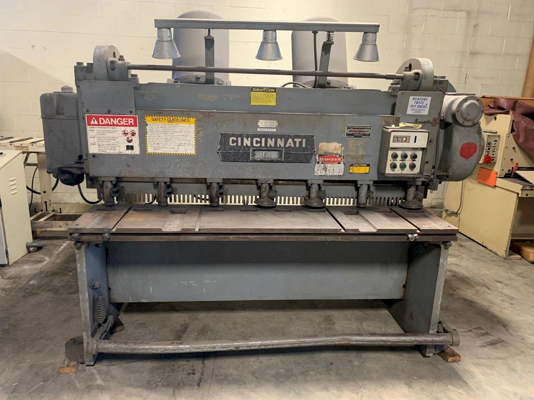 "3/16"" x 6 ft Used Cincinnati Mechanical Power Shear Model 1406R"