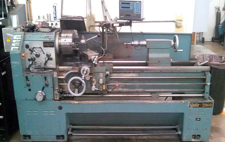 """20"""" x 60"""" VICTOR Engine Lathe, Model S2060G, 20' Swing over Bed, 11-1/2"""" Over Cross Slide, 60"""" Centers, 3-1/8"""" Spindle Bore, Steady Rest, Threading, Taper, New 1975."""