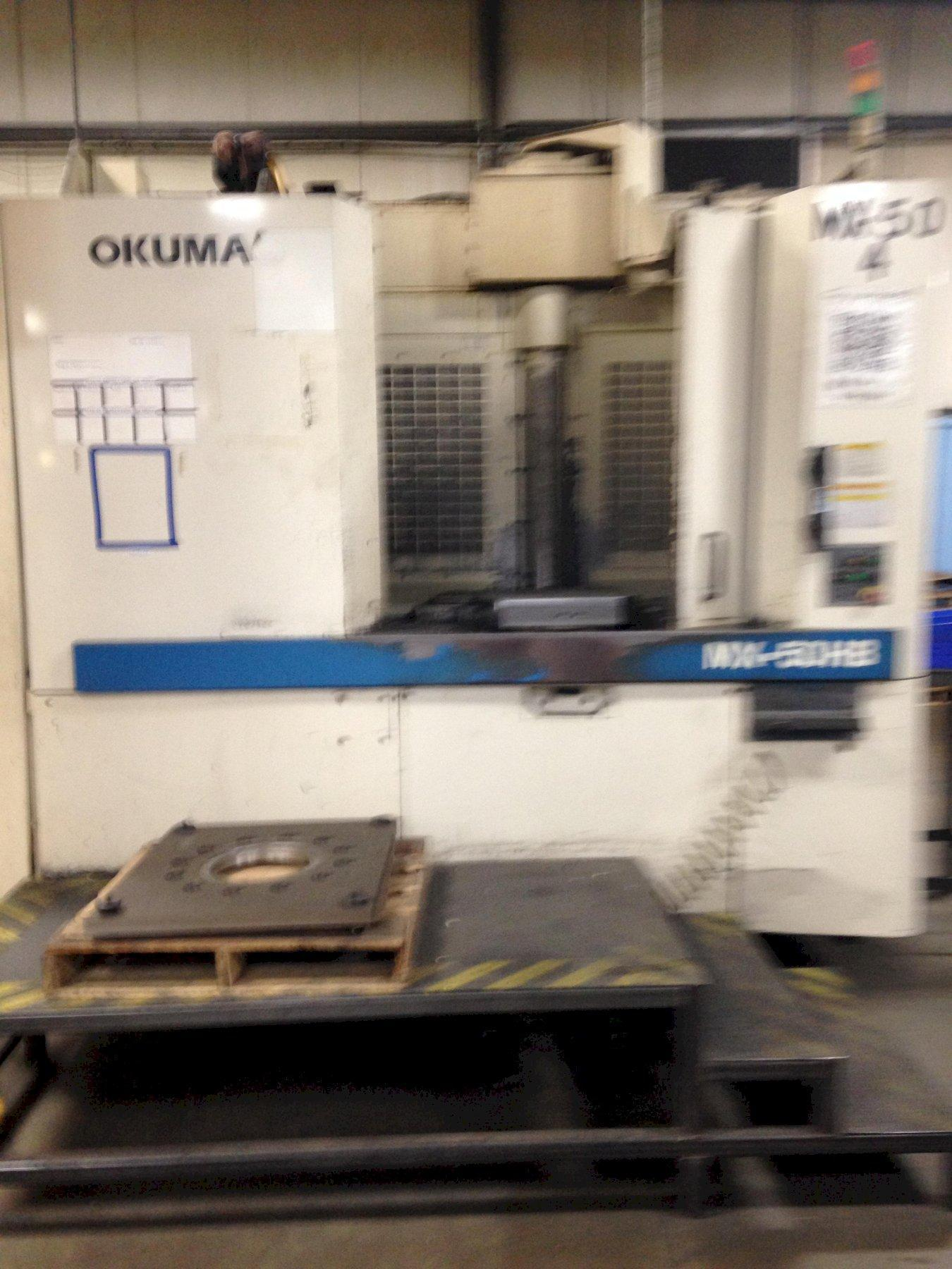 OKUMA MX50HB CNC HORIZONTAL MACHINING CENTER