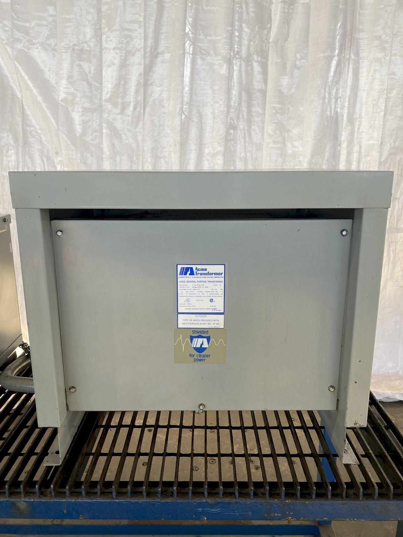 30 KVA ACME 480 PRIMARY, 208/120 SECONDARY STEPDOWN TRANSFORMER. STOCK # 1160720
