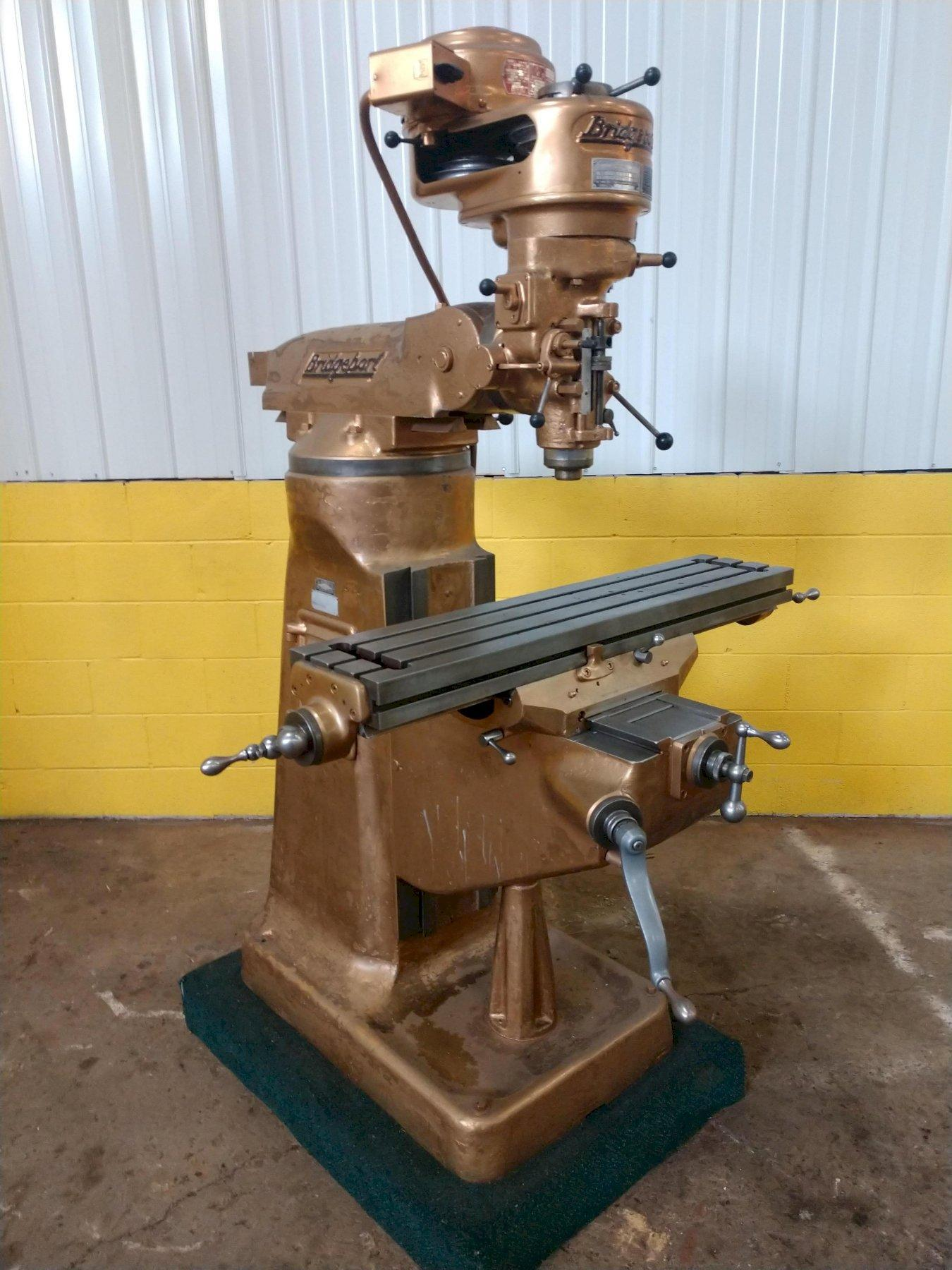 1 HP BRIDGEPORT VERTICAL MILL: STOCK #12662