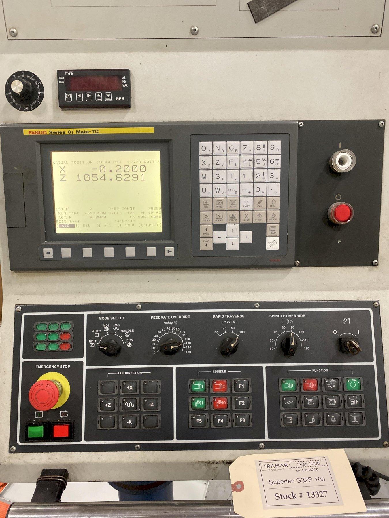 2008 Supertec G32P-100 CNC Cylindrical Grinder