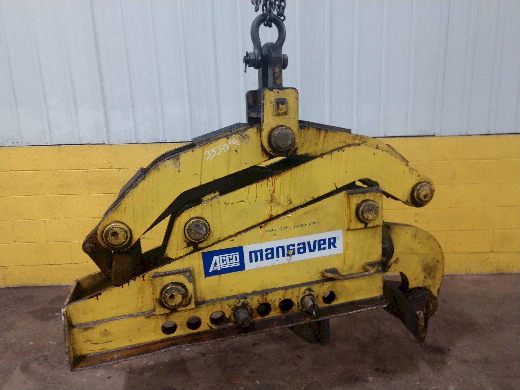 18,000 LBS ACCO VERTICAL COIL LIFTING TONGS: STOCK #14207