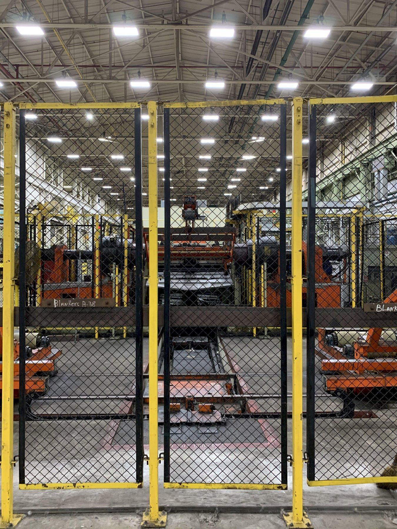 """78"""" W X .12"""" THK AUTOMATIC FEED COMPANY CUT TO LENGTH LINE, PALLET, REELS, TRANSFER, STACKER"""