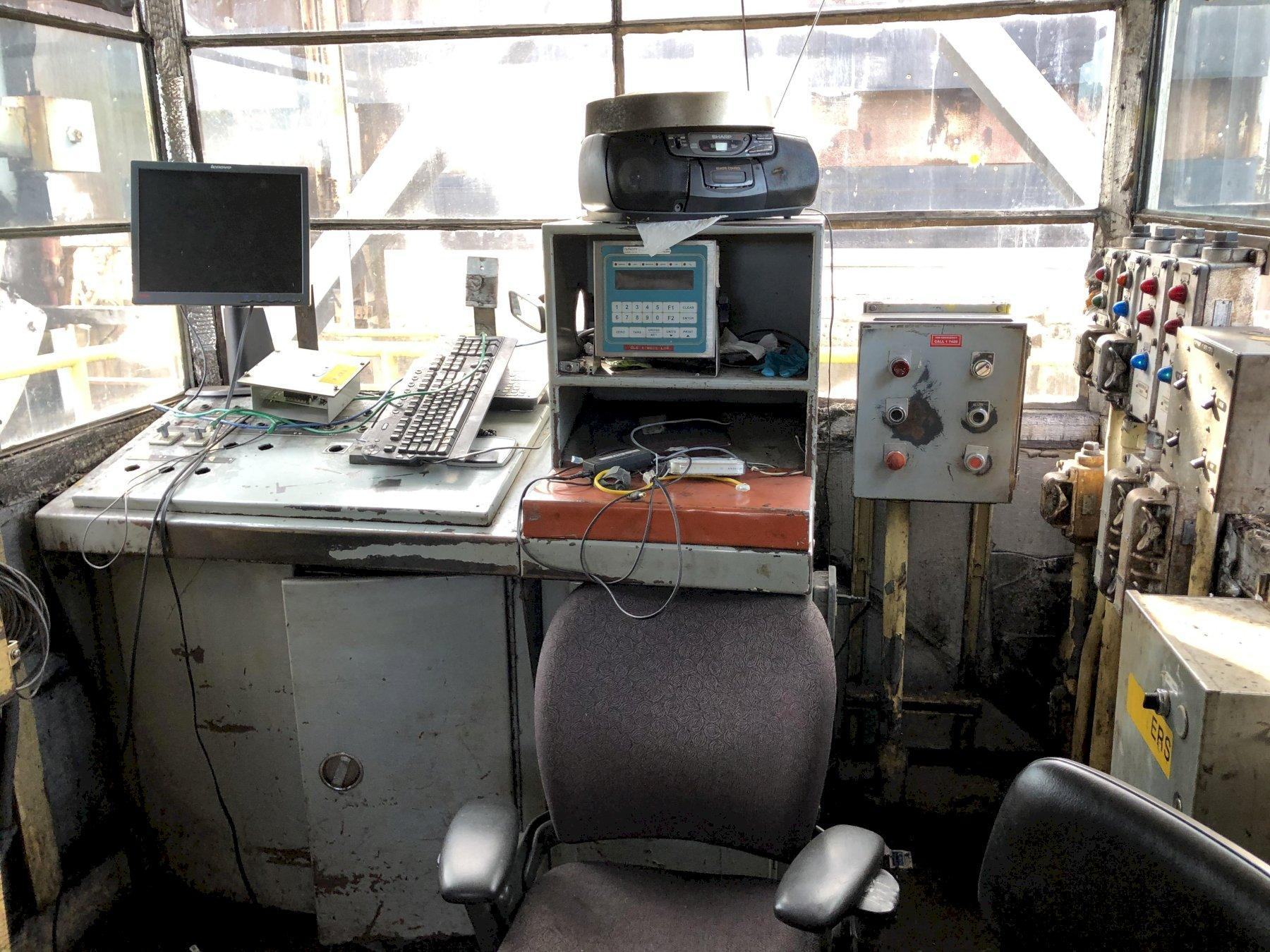 coal car automated rollover cradle and controls
