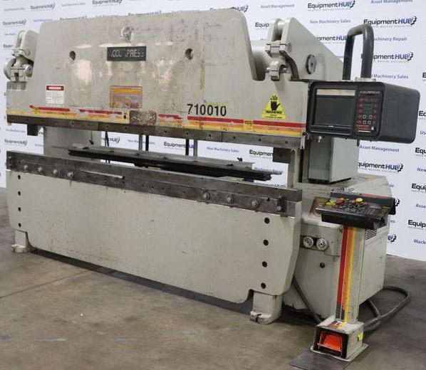 "100 Ton x 120"" ACCURPRESS Hydraulic Press Brake Model 710010 with AP2 Control,"