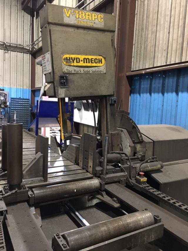 HYD-MECH V18APC Automatic Vertical Miter Cutting Band Saw