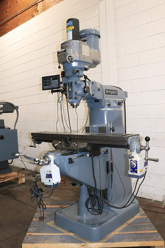 """Bridgeport Vertical Milling Machine Series I, 9"""" x 48"""" Table, 2 HP, Newall 3-Axis DRO"""