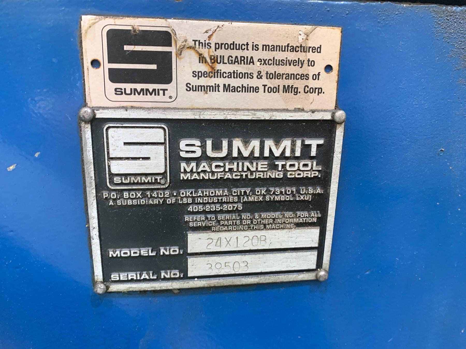 "USED, 25"" X 120"" SUMMIT MODEL 24X120B ENGINE LATHE"