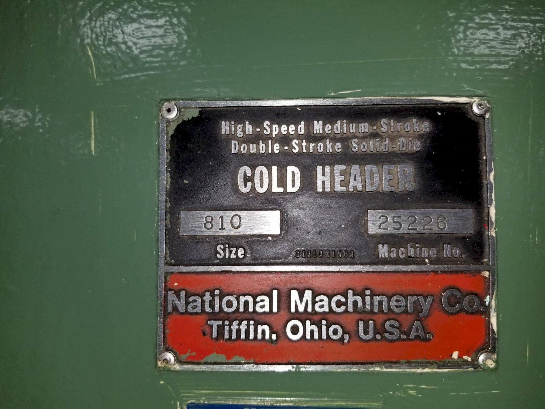 National Model 810 HSMS High Speed DSSD Cold Header