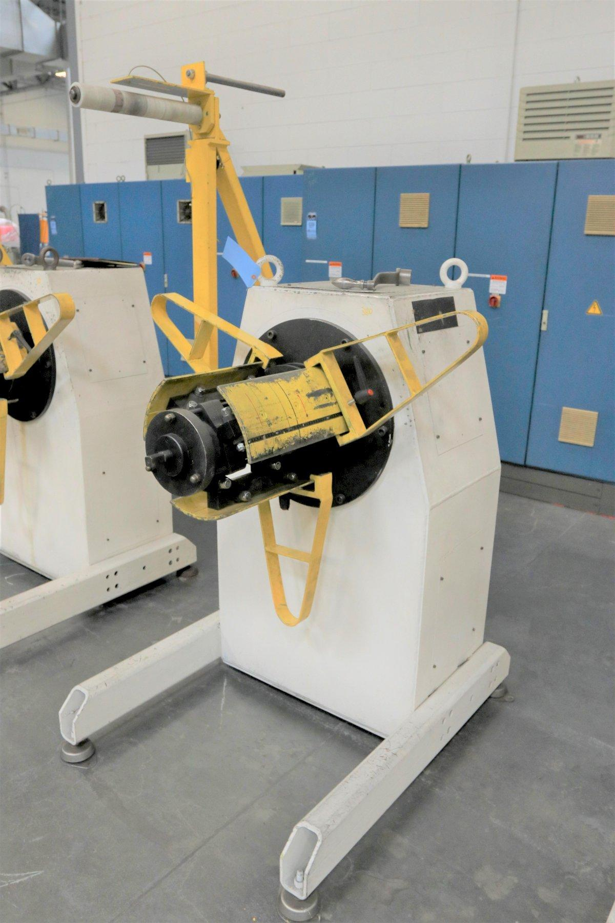 "1,100 LB X 16"" GSW MODEL #MHM0.5/1250SO SERVO MOTORIZED COIL REEL UNCOILER, NEW 1999: STOCK 12986"