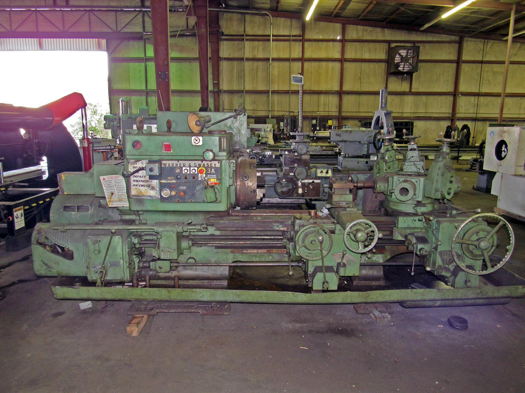 USED, 3A WARNER & SWASEY MODEL 3A TURRET LATHE WITH FIXED REAR TURRET