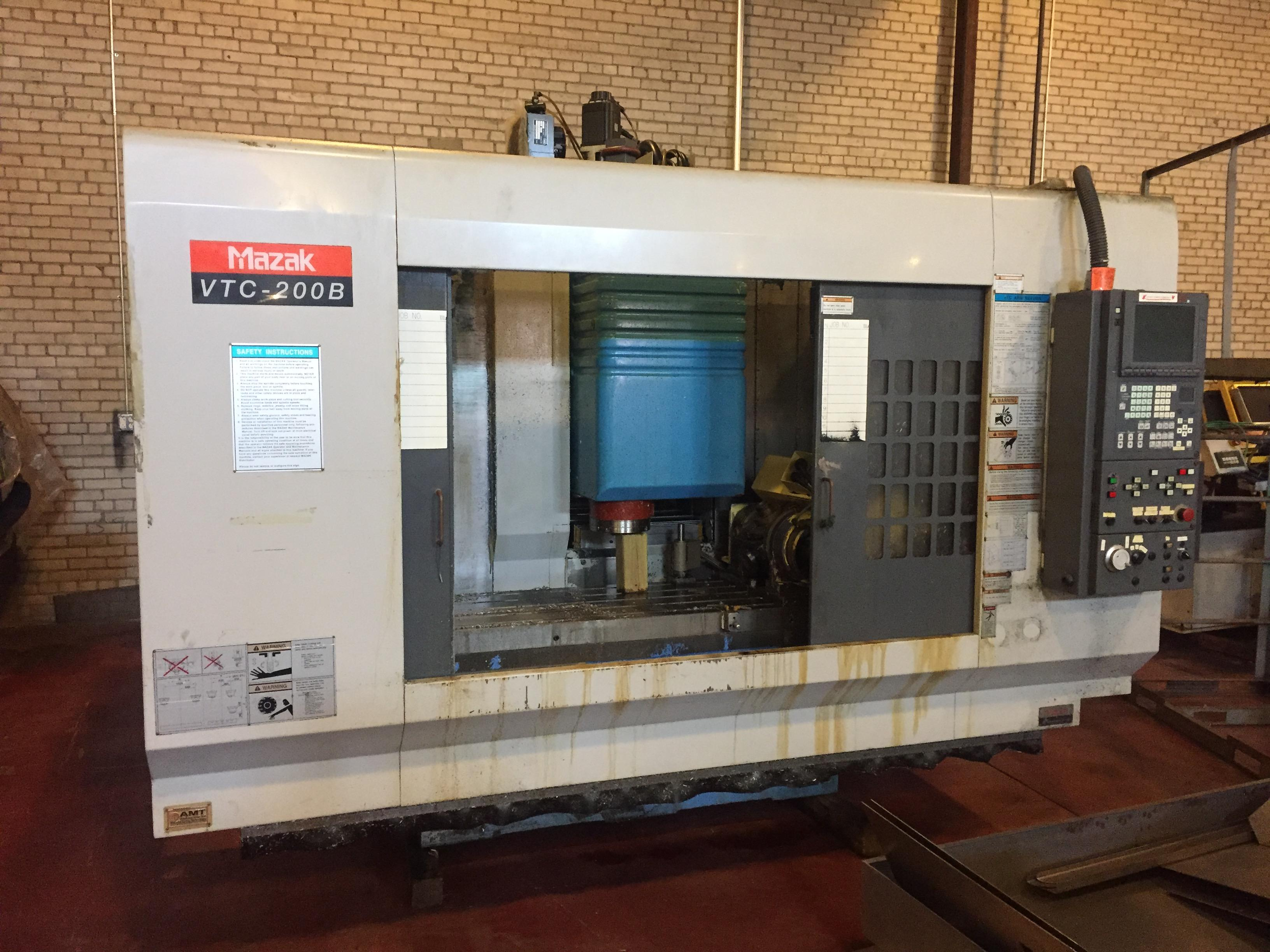 Mazak VTC-200B - CNC Vertical Machining Center w/Nikken 5 Axis Trunion