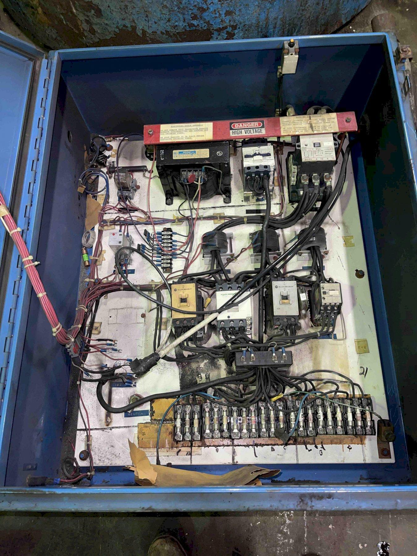 DYNARAD MODEL EC1500  S/N 679 ELECTRIC RESISTANCE MELTING FURNACE WITH CONTROLS offered cleaned, painted and checked out