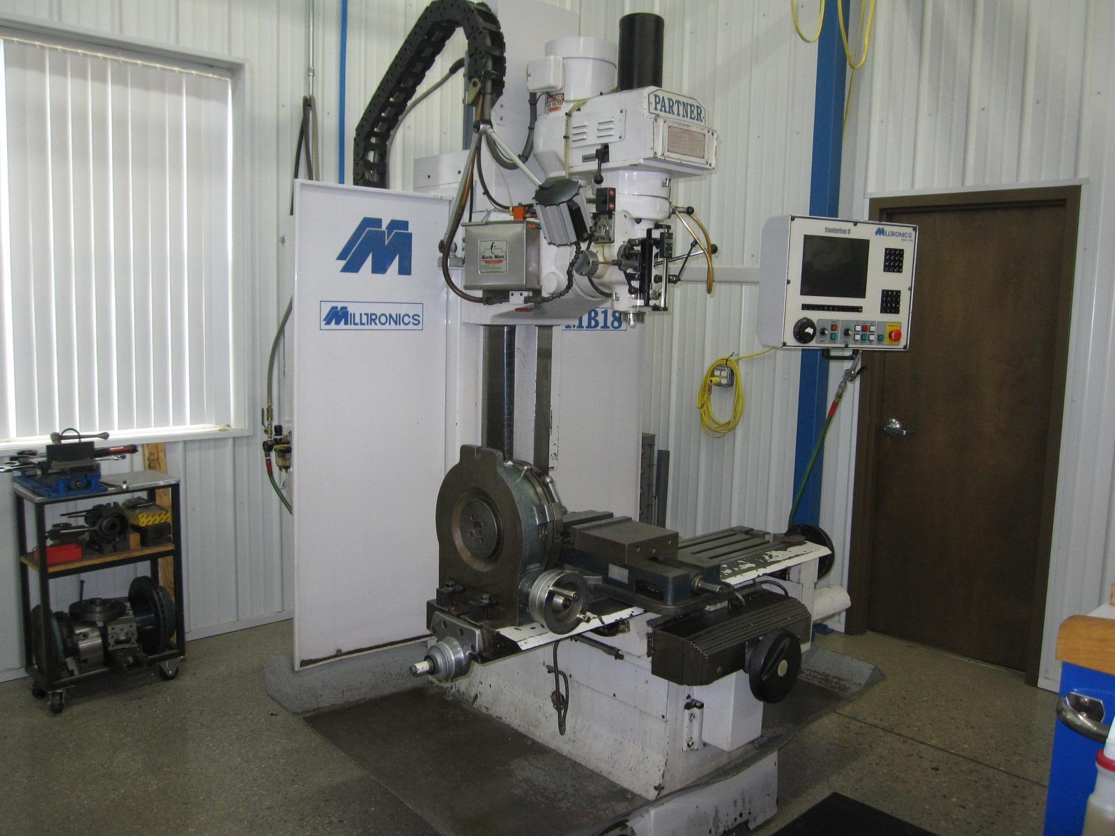 Milltronics MB18-A 3-Axis CNC Vertical Bed Mill, S/N 5573, New 1999.