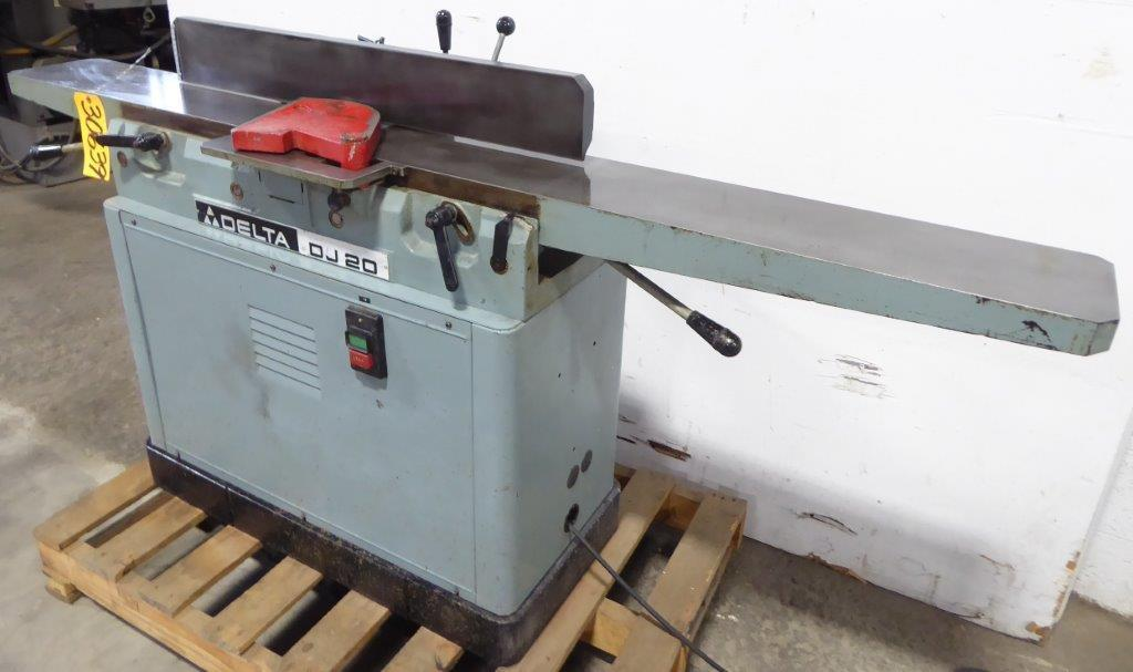 8″ Delta Invicta Jointer, Model DJ20, 1 Phase