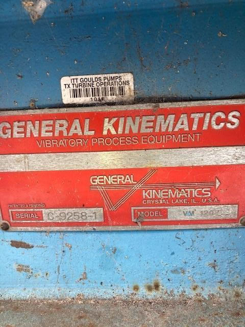 GENERAL KINEMATICS MODEL VM120 VIBRAMILL LUMP CRUSHER S/N C-9258-1 WITH BASE