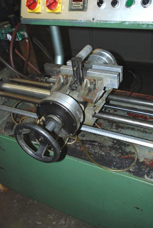 "USED SOCO AUTOMATIC NON-FERROUS SAW Model MC-350NFA, 4-1/4"", Stock No. 7874, Year 1987"