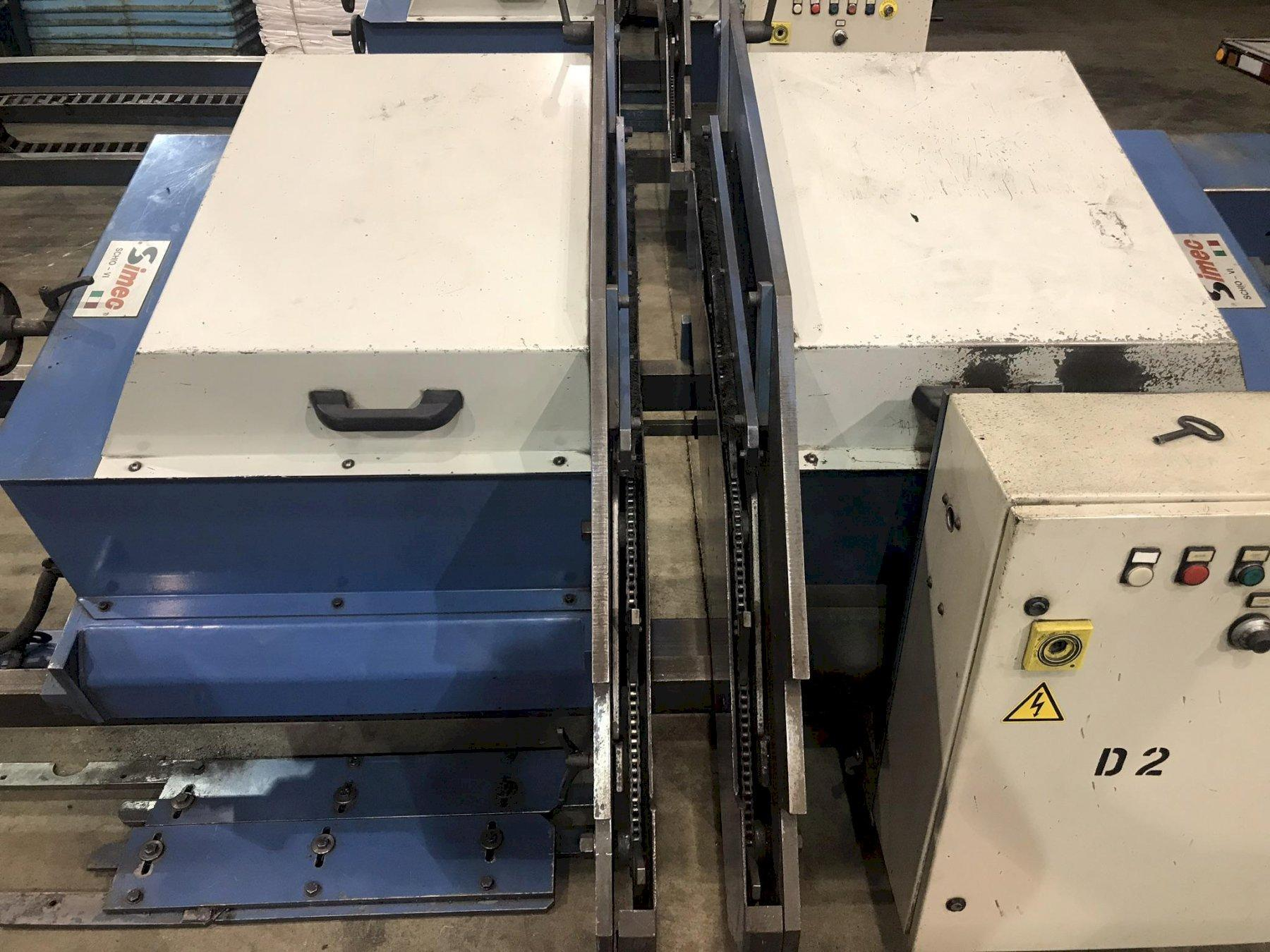 "USED SIMEC ADJUSTABLE LENGTH 4"" WIRE BRUSH DEBURRING MACHINE, MODEL SB3000S, Stock No. 10685, Year 2002"