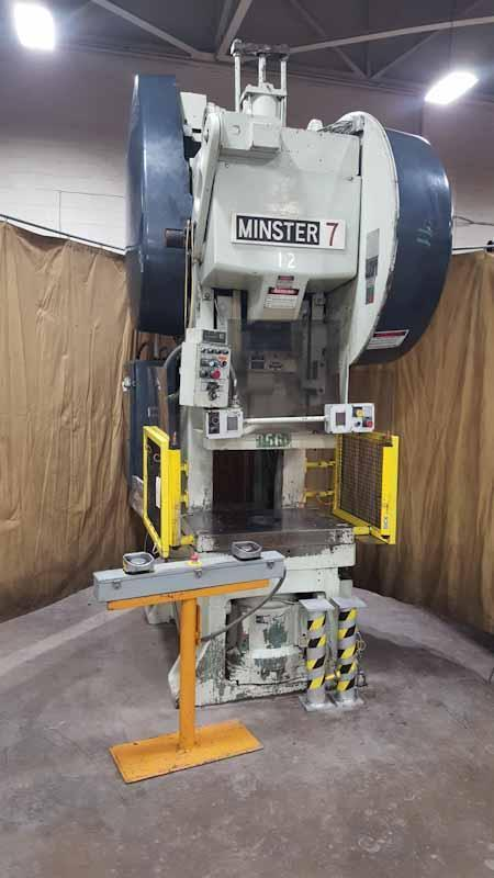 75-Ton Minster No. 7SS Back Geared Type Fixed Base Superstock OBS Press