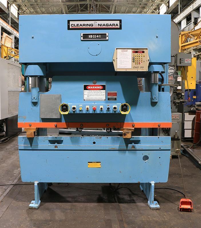 55 Ton x 6 ft Niagara Hydraulic Press Brake Model HB-55-4-6 w/ Automec 2 Axis CNC Back Gauge