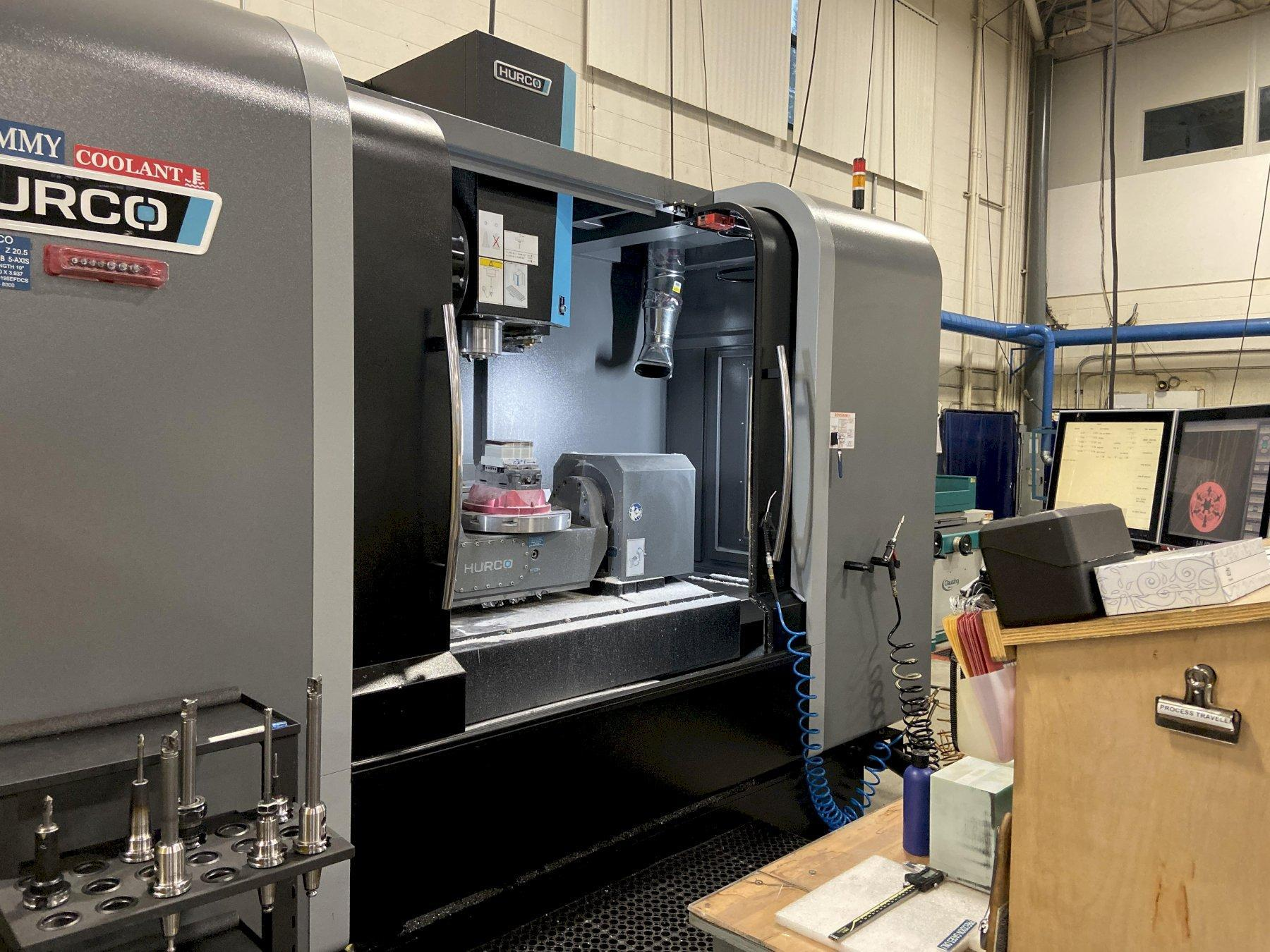 "Hurco VMX60Ui 5-Axis CNC Vertical Machining Center, WinMax 5 Control, 60""/26""/20"" Travels, 12K Spindle, 40 ATC, 40 Taper, 24 HP, Coolant Thru Spindle, Simultaneous 5-Axis Machining, Probing, Many Other Options, 2015"