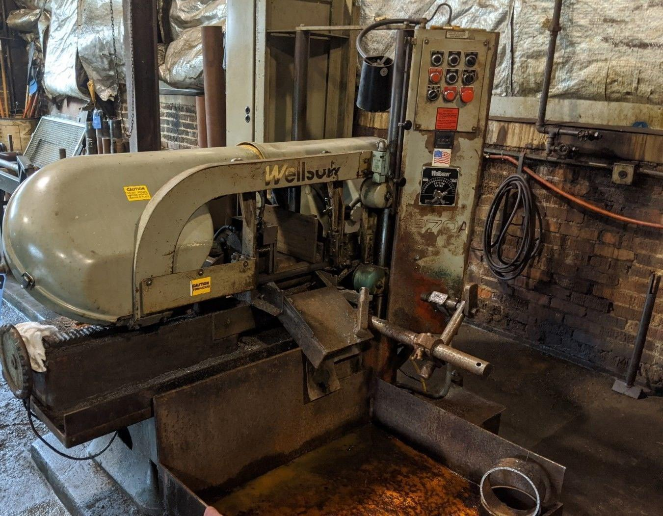 "12"" X 14"" WELLSAW HORIZONTAL AUTOMATIC FEED BAND SAW: STOCK 12712"