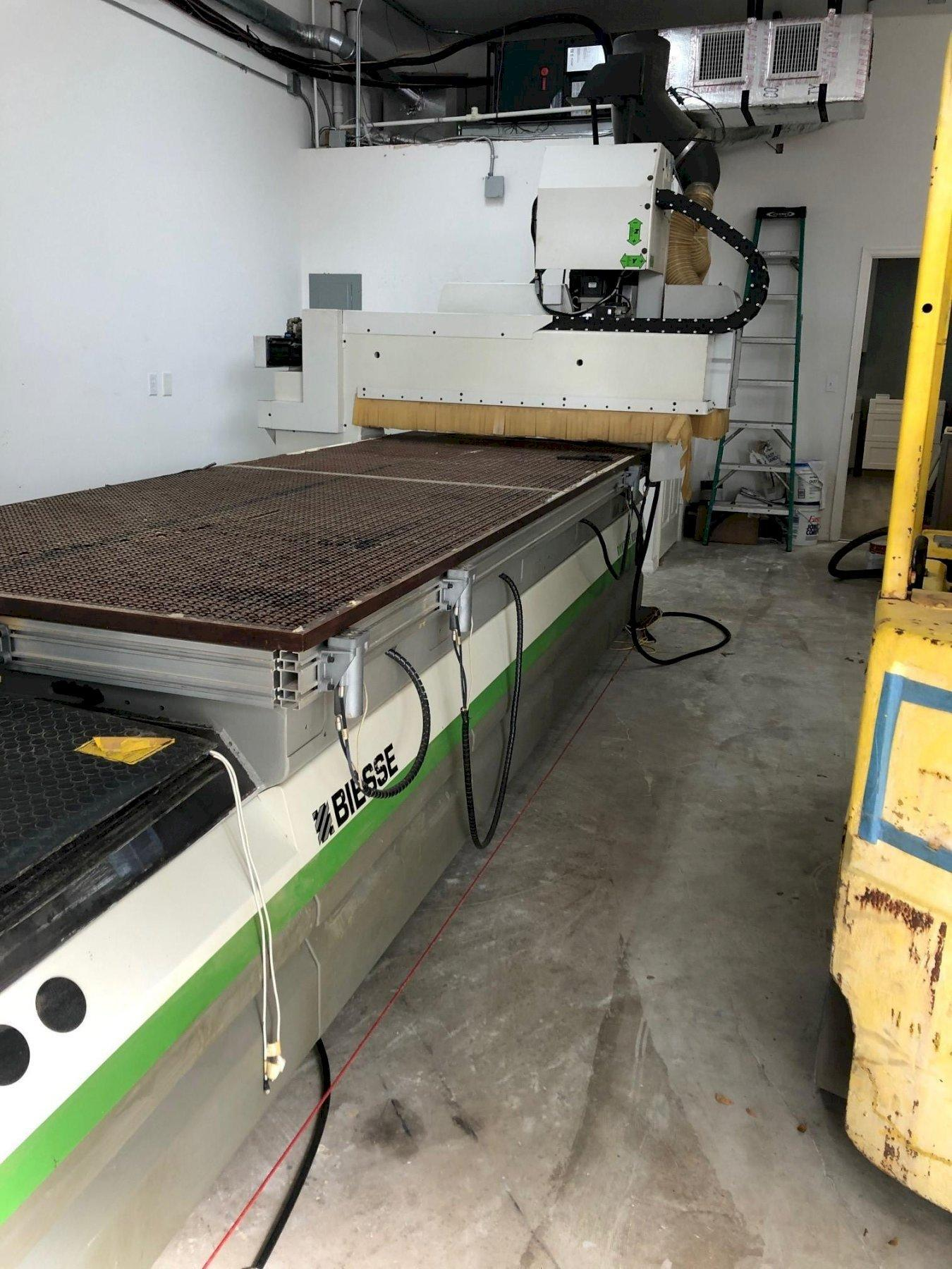 "Biesse Rover B 4.40 FT CNC Router 2006 With: 145"" x 54.3"" Working Field, 16.1 HP Electrospindle, 10-Tool Changer, and External Transformer."