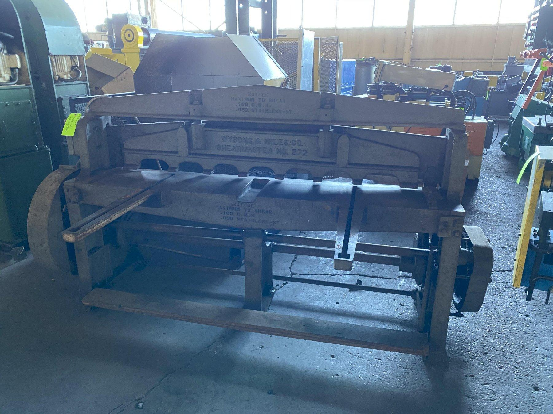 Wysong and Niles Mechanical Shear